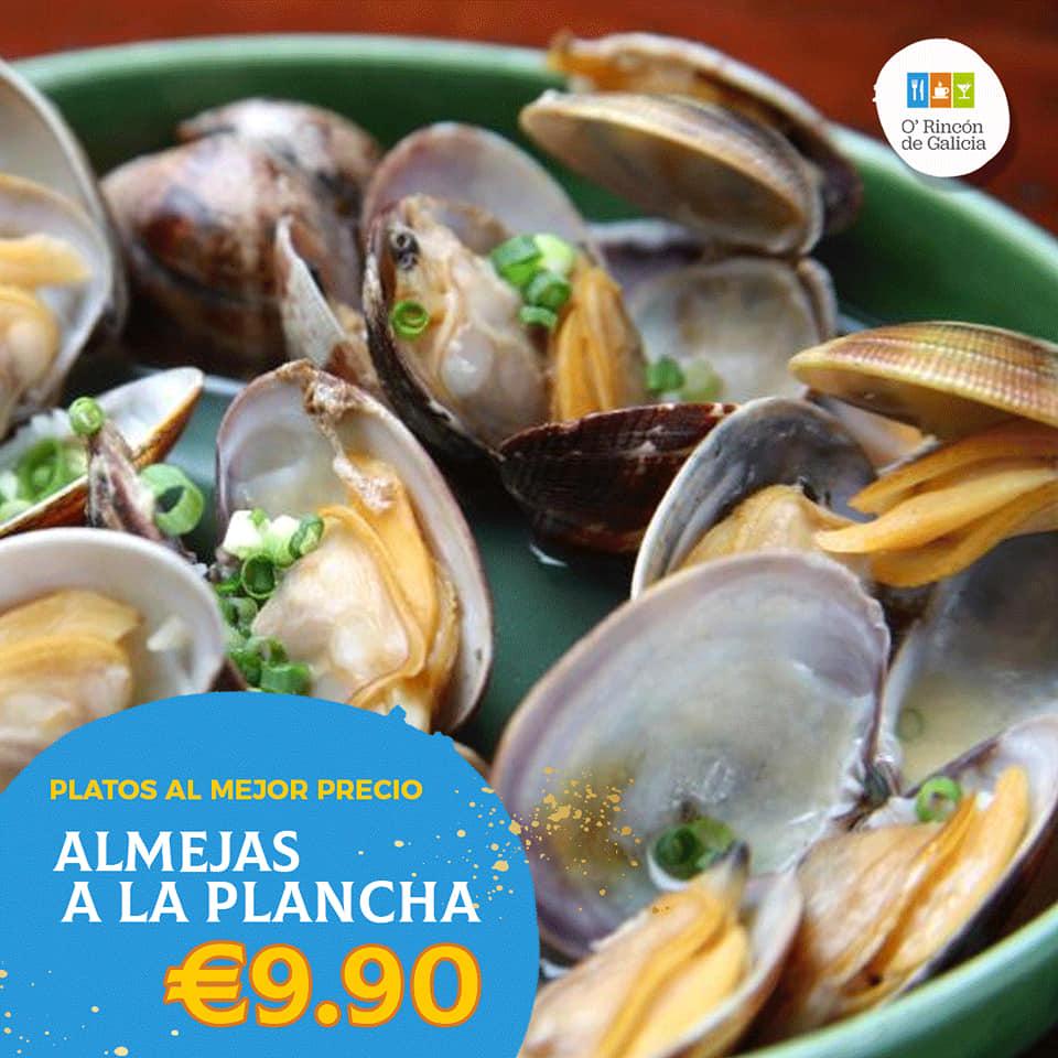 restaurante gallego hospitalet Almejas a la Parrilla