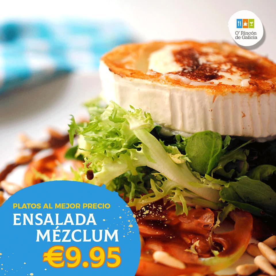 restaurante gallego hospitalet Meclun ensalada