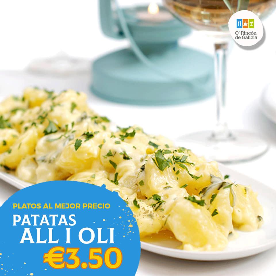 restaurante gallego hospitalet Patatas al I Oli
